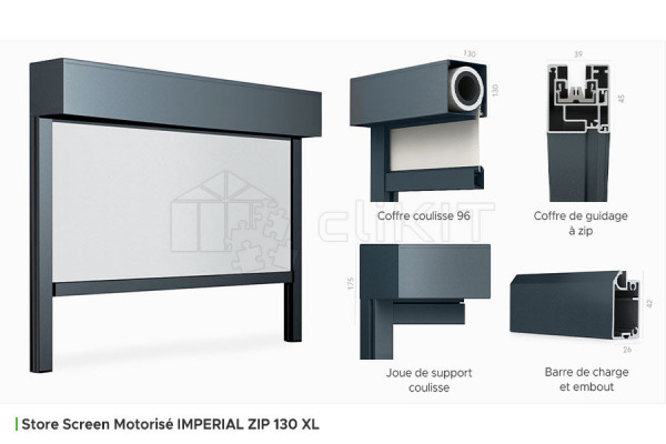 Profils du Store Screen Motorisé IMPERIAL ZIP 130