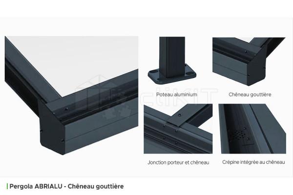 Profils de la Pergola Aluminium ABRIALU