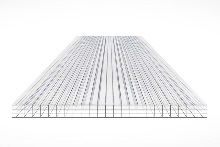Schéma de la Plaque Polycarbonate 10mm 4P Clair