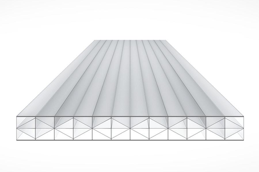 Schéma de la Plaque Polycarbonate 16mm TOP-X5 Clair