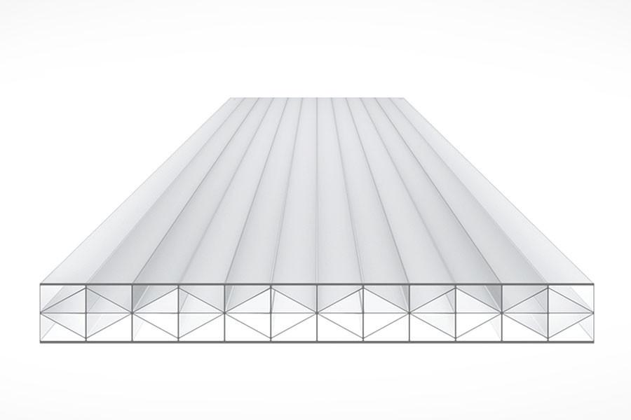 Schéma de la Plaque Polycarbonate 16mm TOP-X5 Opal