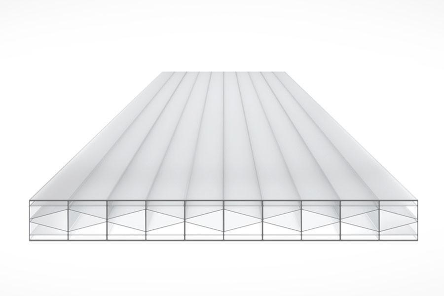 Schéma de la Plaque Polycarbonate 16mm TOP-X6 Opal