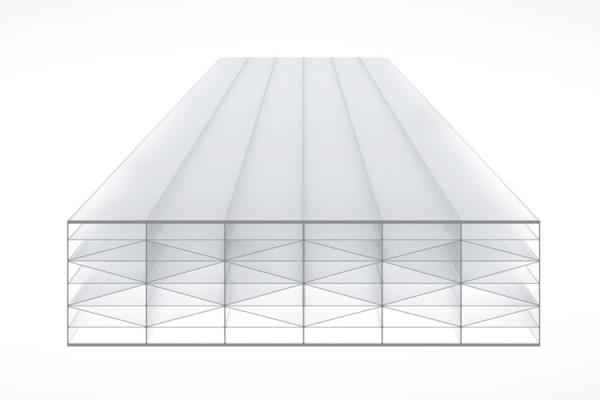 Schéma de la Plaque Polycarbonate 32mm TOP-X11 Opal