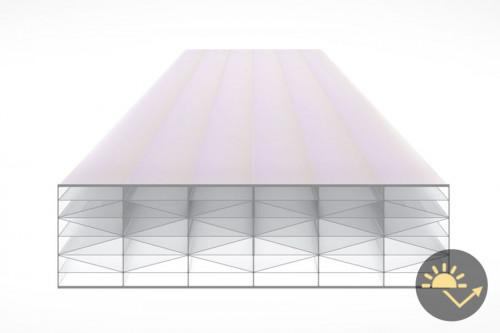 Schéma de la Plaque Polycarbonate 32mm PRIMALITE Clair Anti-chaleur