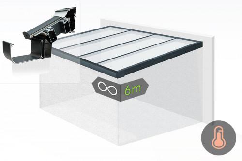 Exemples d'implantation de la Toiture de Véranda Aluminium CLIMAX