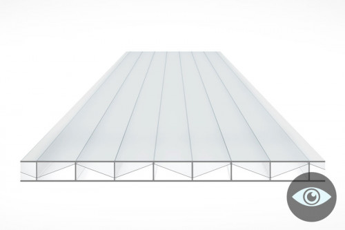 Schéma de la Plaque Polycarbonate 16mm 3P Clair