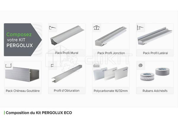 Composition du Kit de Couverture de Toiture PERGOLUX ECO