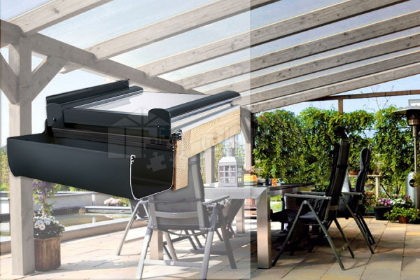 Photo n°2 du Kit de Couverture de Toiture PERGOLUX PREMIUM GLASS
