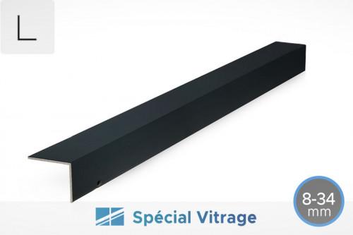 Photo n°1 du Profil d'Obturation L432 Aluminium pour Verre