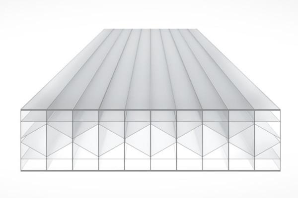 Schéma de la Plaque Polycarbonate 32mm TOP-X6 Clair