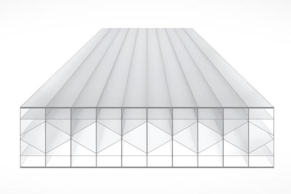 Schéma de la Plaque Polycarbonate 32mm TOP-X6 Opal