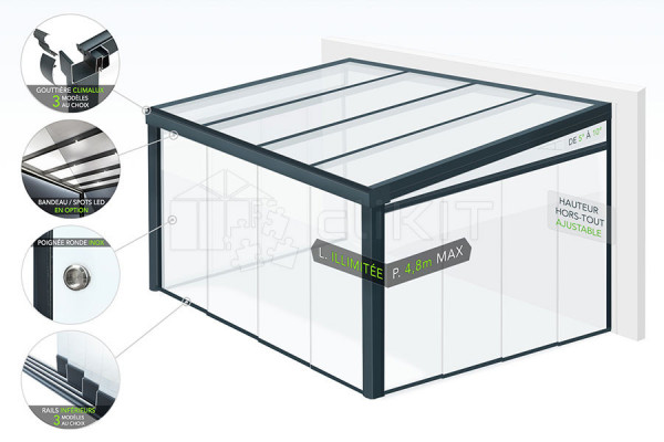 Schéma du Jardin d'Hiver Aluminium CLIMALUX