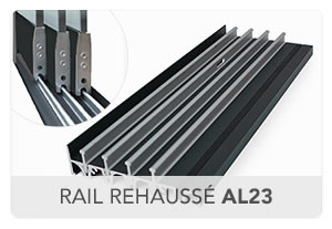 Rail rehaussé AL23