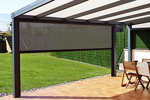 Photo n°1 du Store Screen Motorisé IMPERIAL ZIP pour Pergola